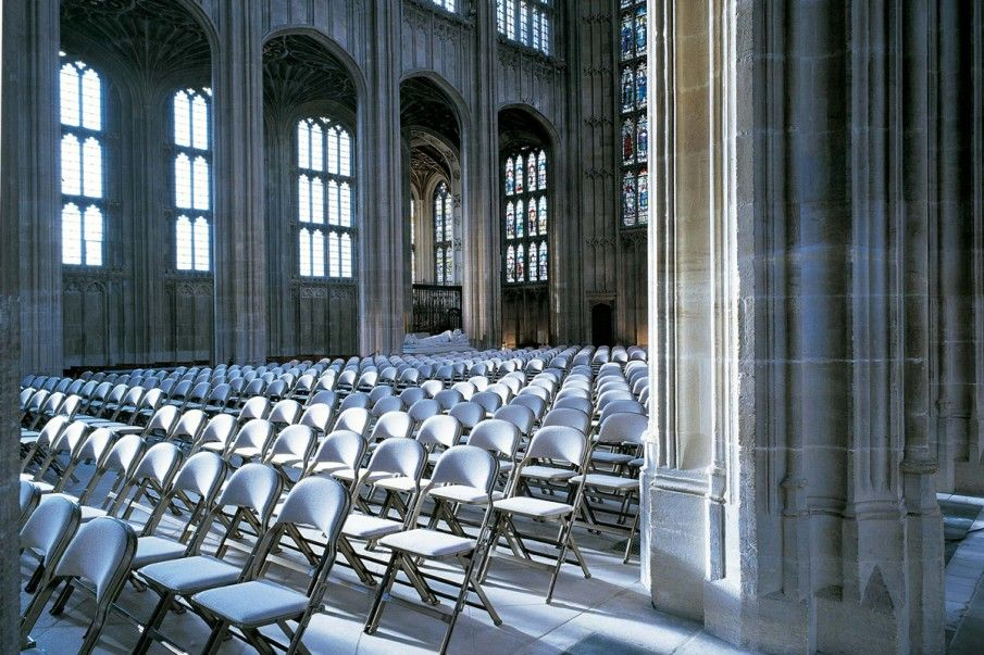 Our Audience Seating range at Windsor Castle. History, Culture, England, UK, Cream, Architecture, Furniture, Folding Seating, Interior, Design, Decor.