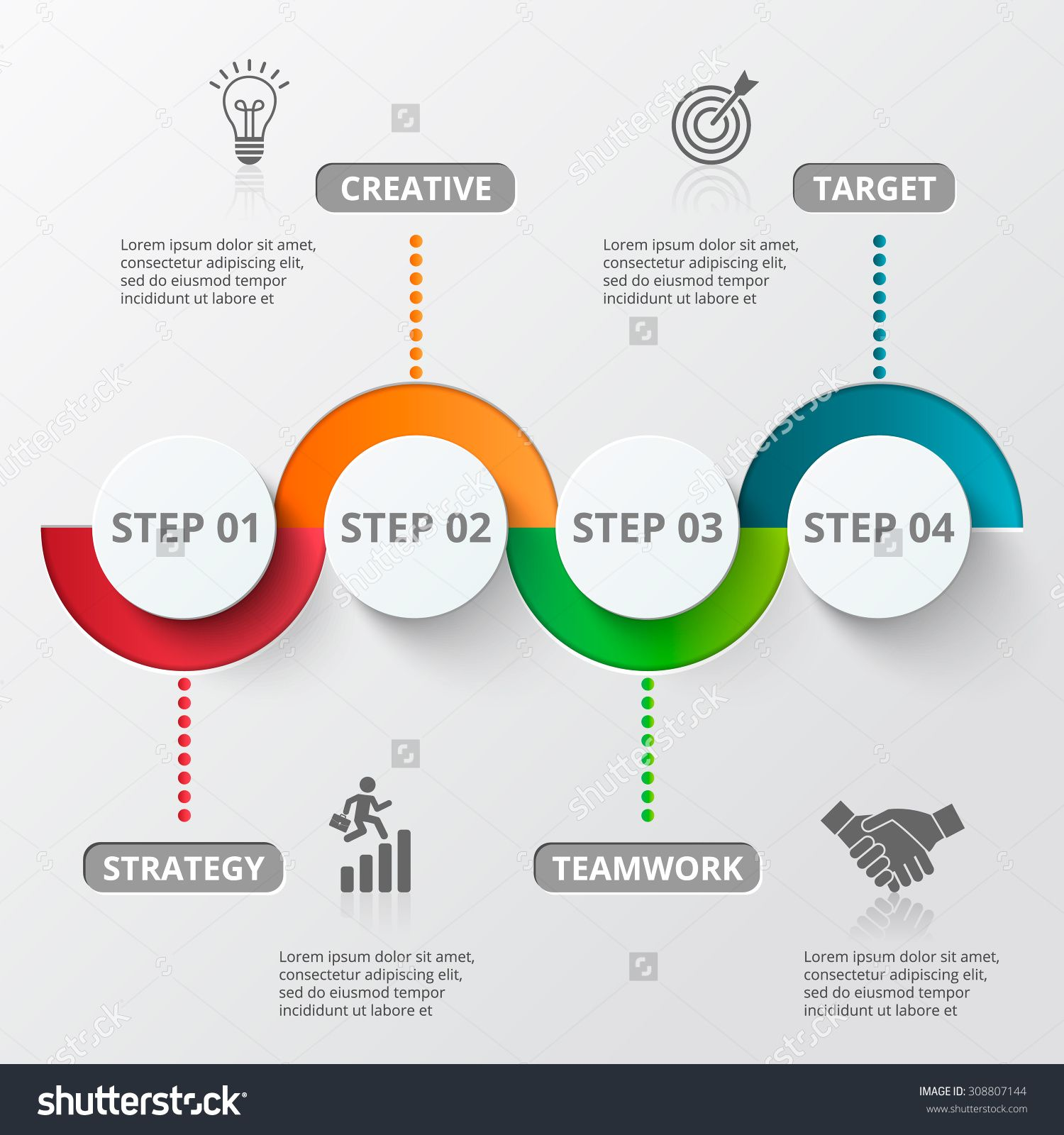 Infographic design template and marketing icons template for infographic design template and marketing icons template for diagram graph presentation and round chart business concept with 4 options parts cheaphphosting