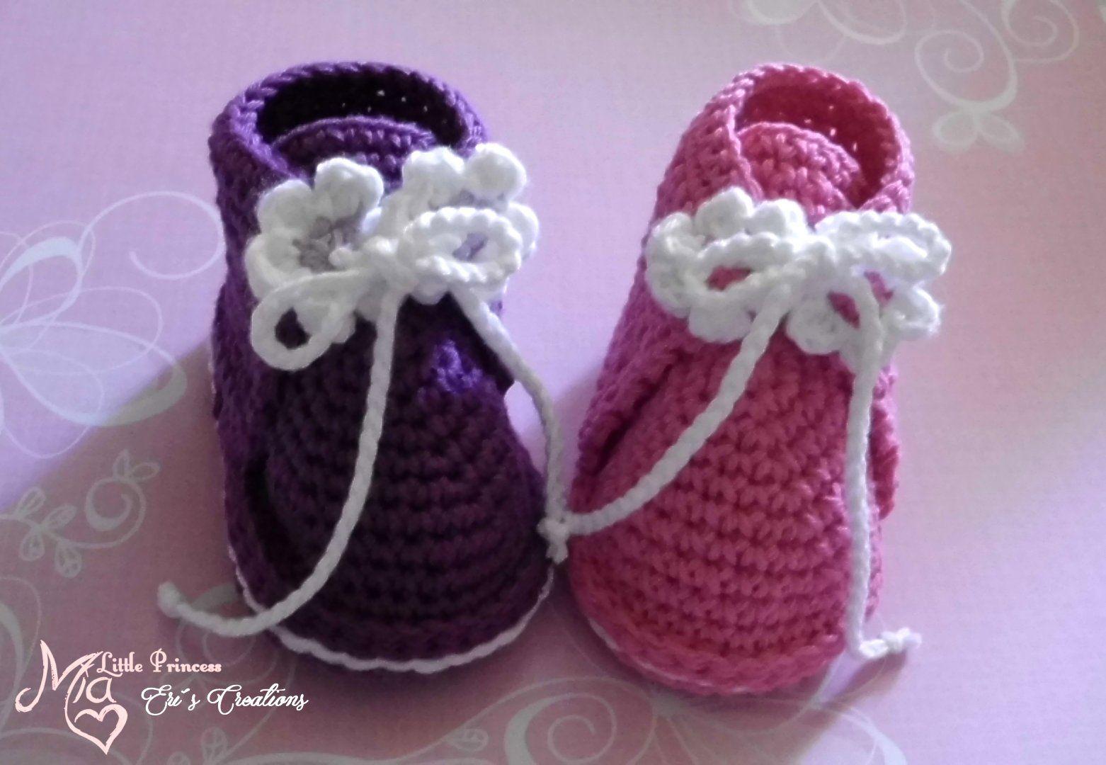 Anleitung Schühchen 2 | Babies, Crochet and Crochet baby