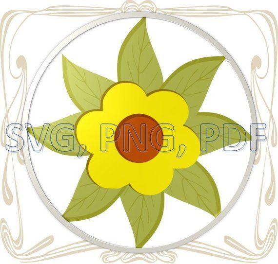 Watercolor Sunflower SVG | Gardening: Flower and Vegetables
