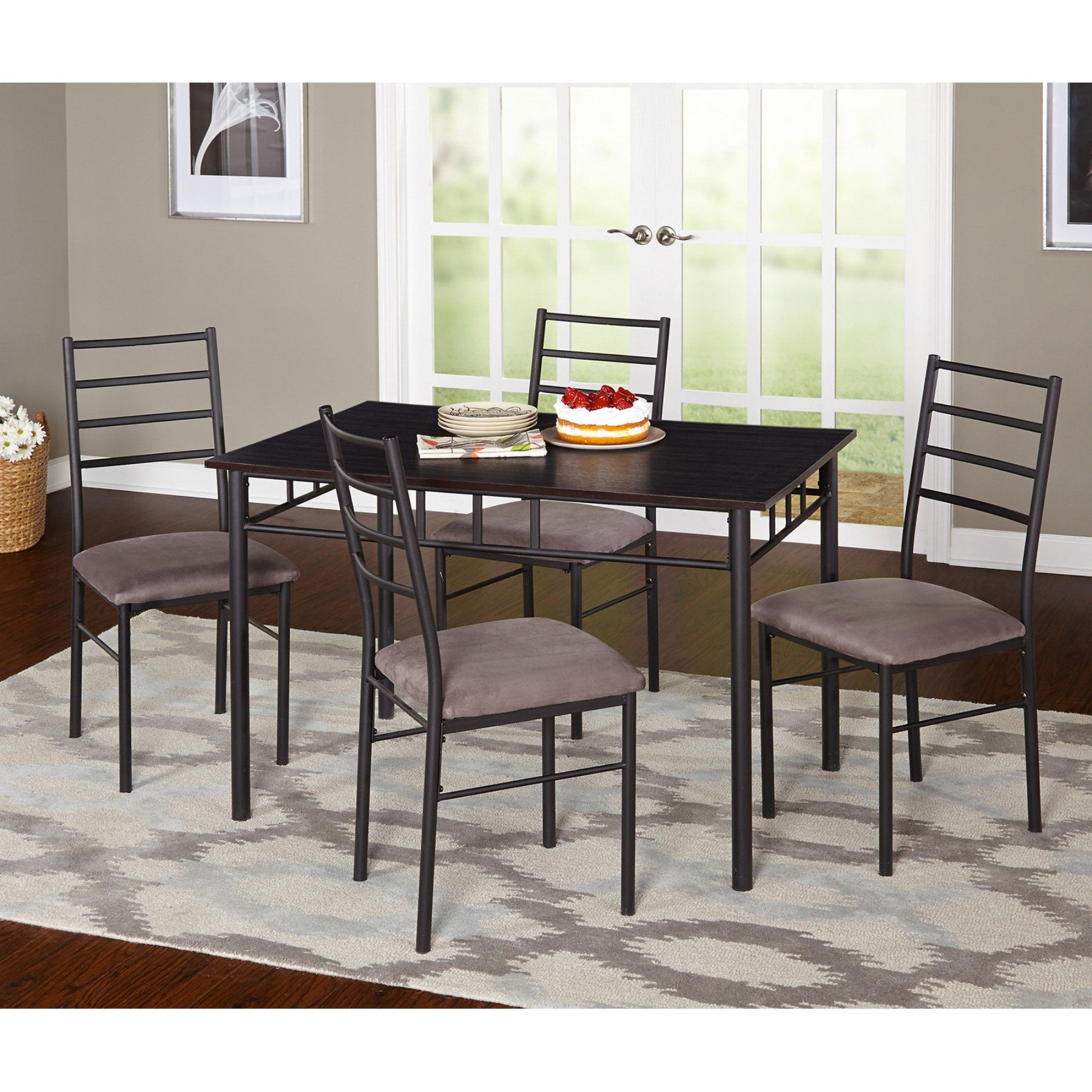 Target Marketing Systems Liv 5 Piece Dining Table Set 88015bkg