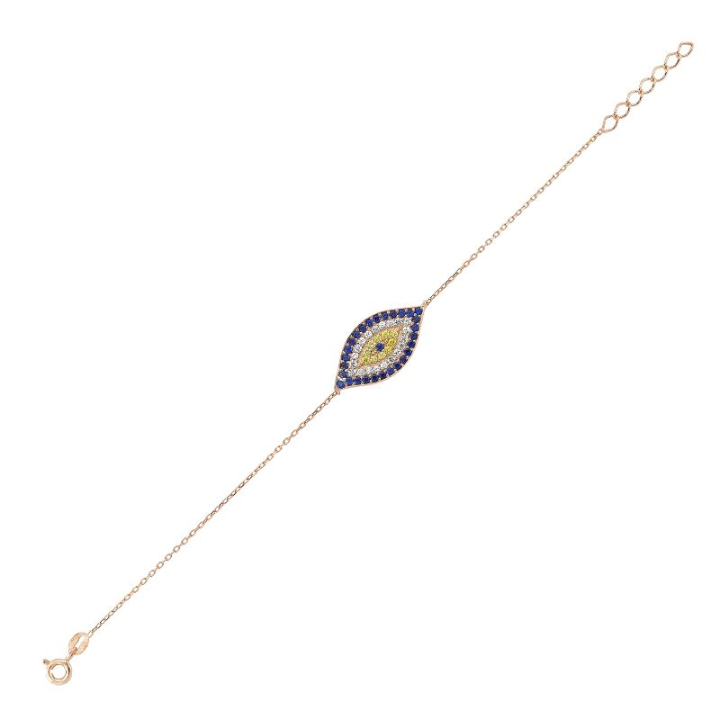 Fancy Rose Evil Eye Bracelet fits with all your formal outfits. #jewelry #fashion #rosegold   #StaySafeStayStylish