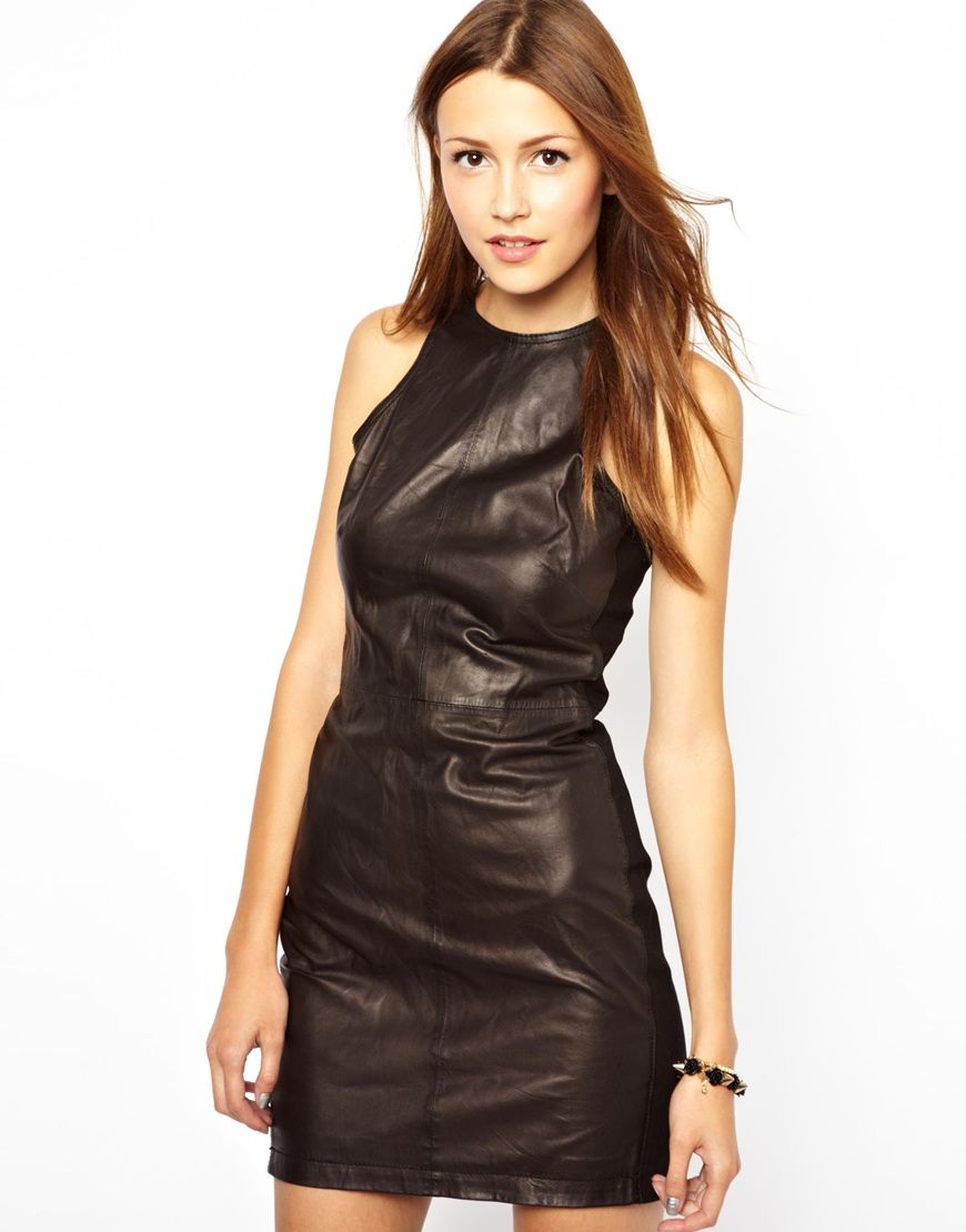 Leather Halter Dresses