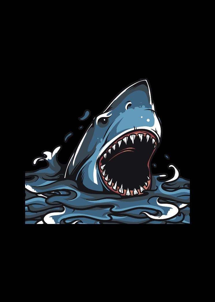 Shark With Open Mouth Free Svg File Ocean Canvas Canvas Art Prints Shop Art Prints