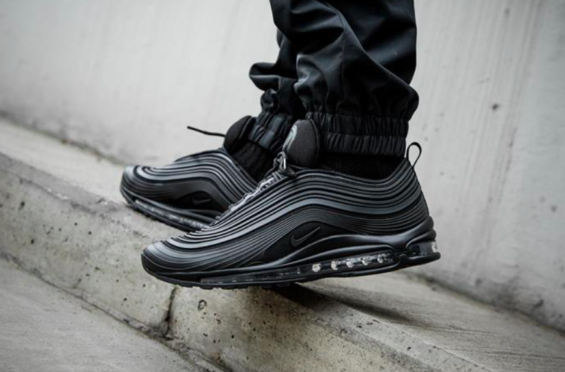 5129d3d8d9e1 NIKE AIR MAX 97 ULTRA 17 PREMIUM TRIPLE BLACK ARRIVING AT RETAILERS ...