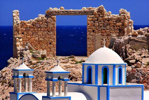 Portão oceânico em Milos - Ilhas Cyclades