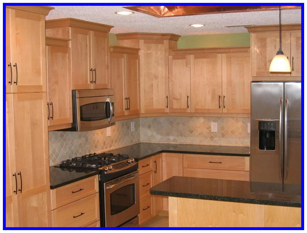 79 Reference Of Granite Countertops With Light Maple Cabinets Maple Kitchen Cabinets Kitchen Design Best Kitchen Cabinets