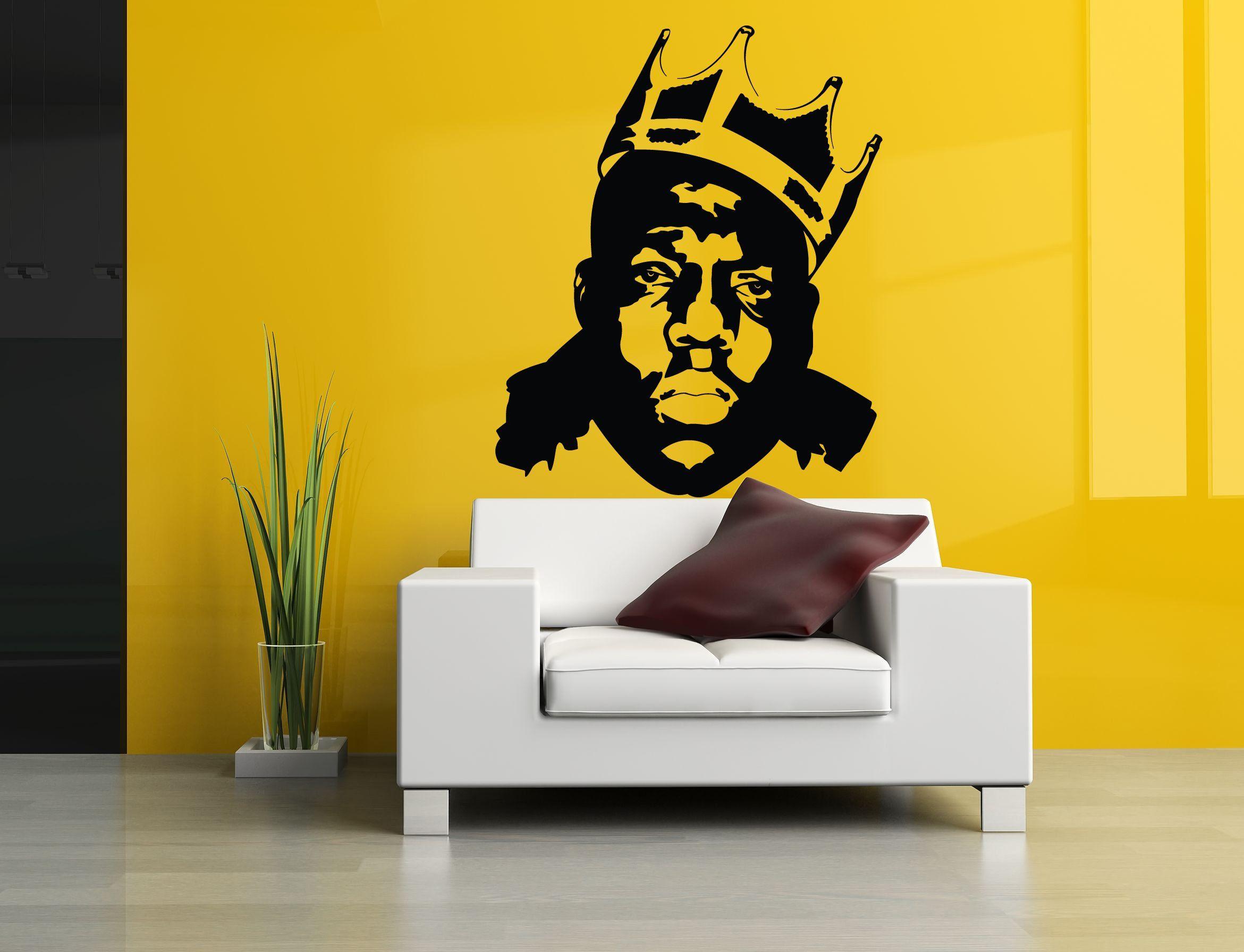 Wall Room Decor Art Vinyl Sticker Mural Decal Rap Hip Hop Star Big ...