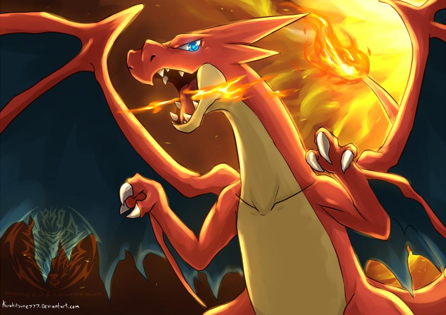 Pkmn Mega Charizard Y By Kurokitsune777 On Deviantart Pokemon Pokemon Dragon Fire Pokemon