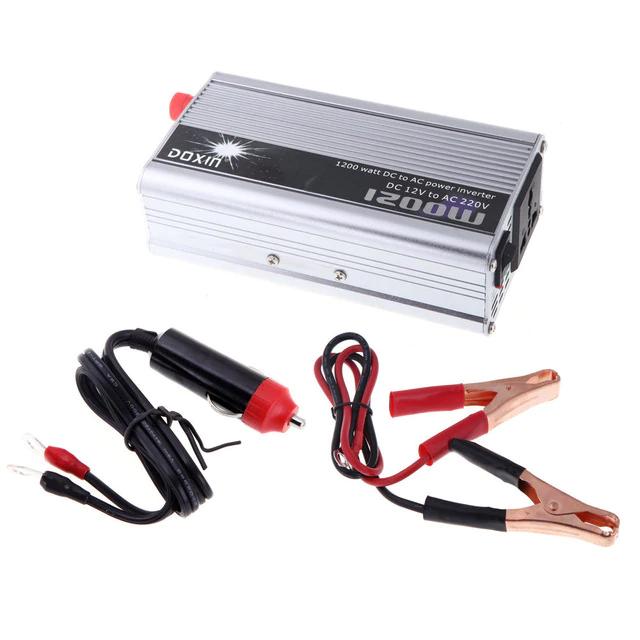 1200W Power Inverter dc 12v ac 220v Solar Home System DC