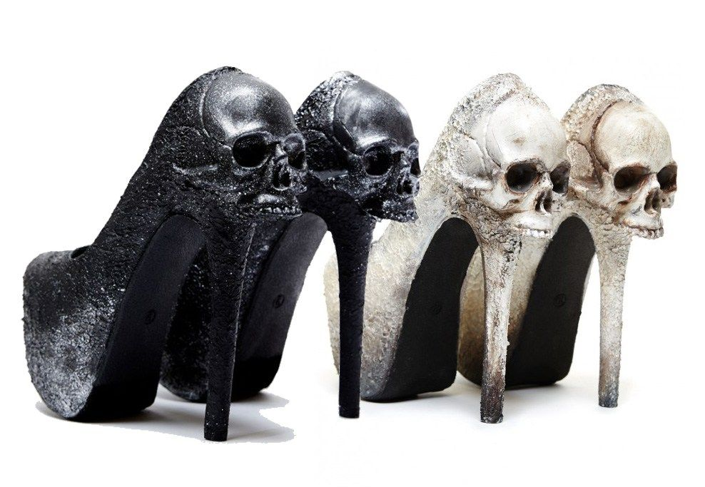 10 Gorgeous Gothic Shoes For A Gothic Bride Black Macabre Skull