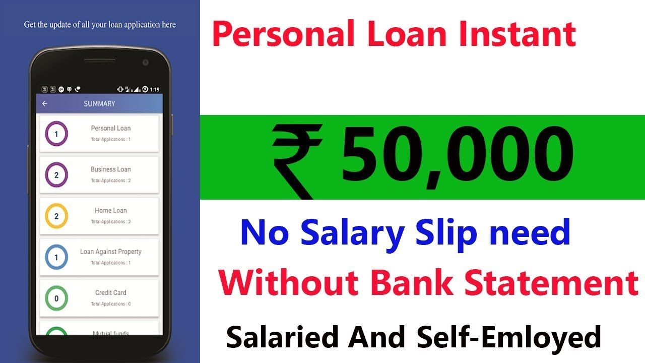 Get 50 000 Instant Personal Loan Instant Loan Without Salary Slip Personal Loans Instant Loans Loan