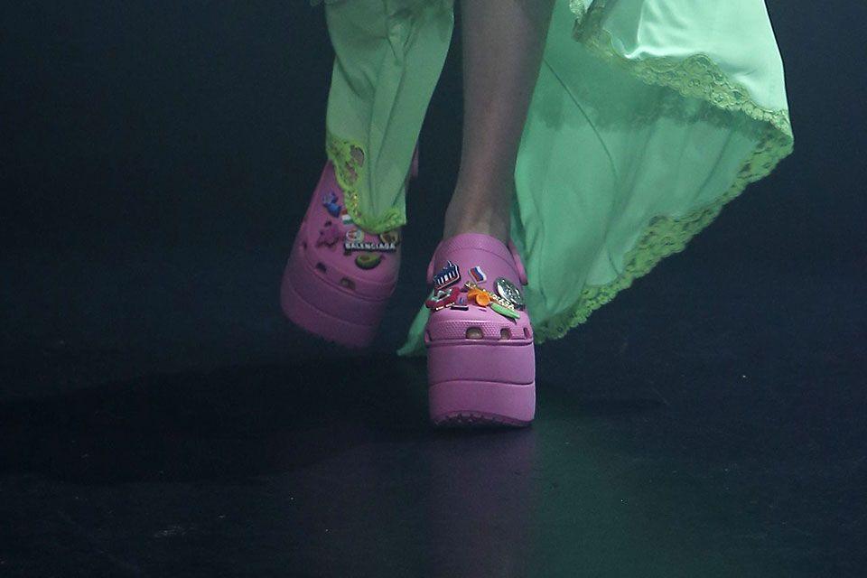 e595f777e1d7 Balenciaga Crocs Foam Platform Sandals Are A Thing Now