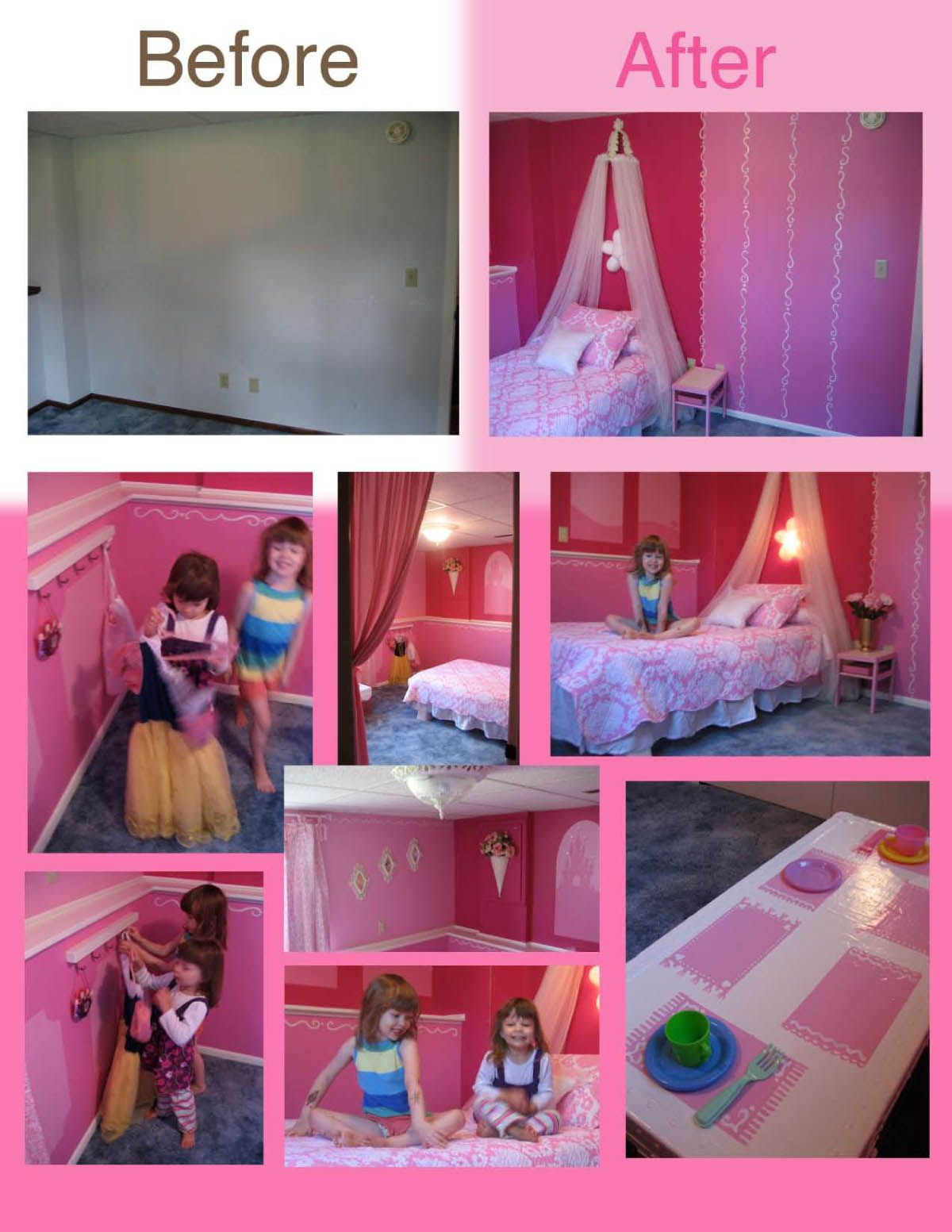 Id Mommy Diy Princess Themed Bedroom By Heidi Panelli Themes Big Girl Bedrooms