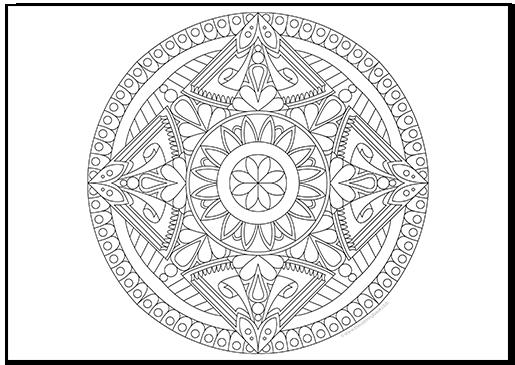 Free Mandala Coloring Page II
