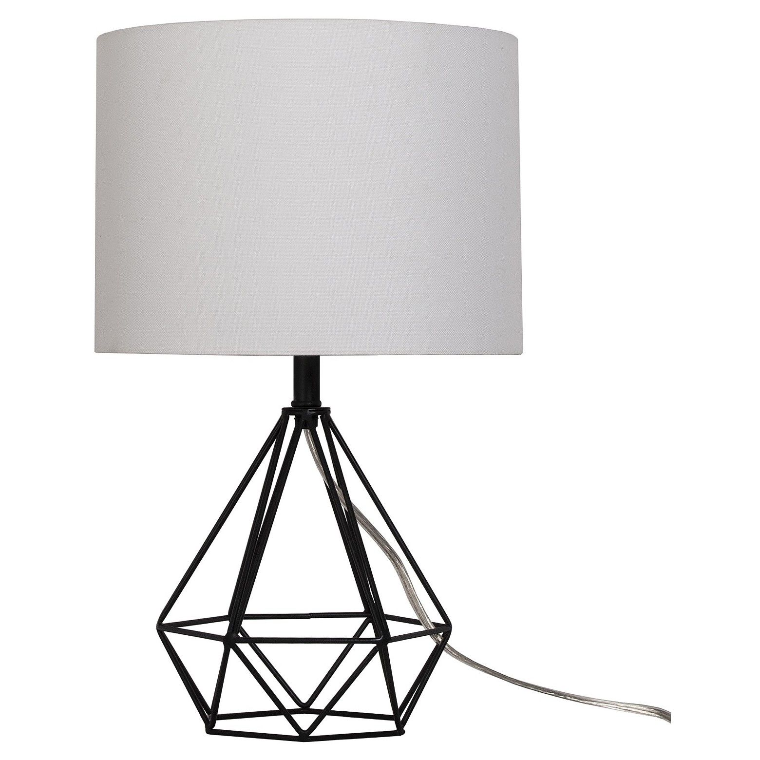 Diamond Wire Table Lamp Painted Base Black - Threshold | Foyers ...
