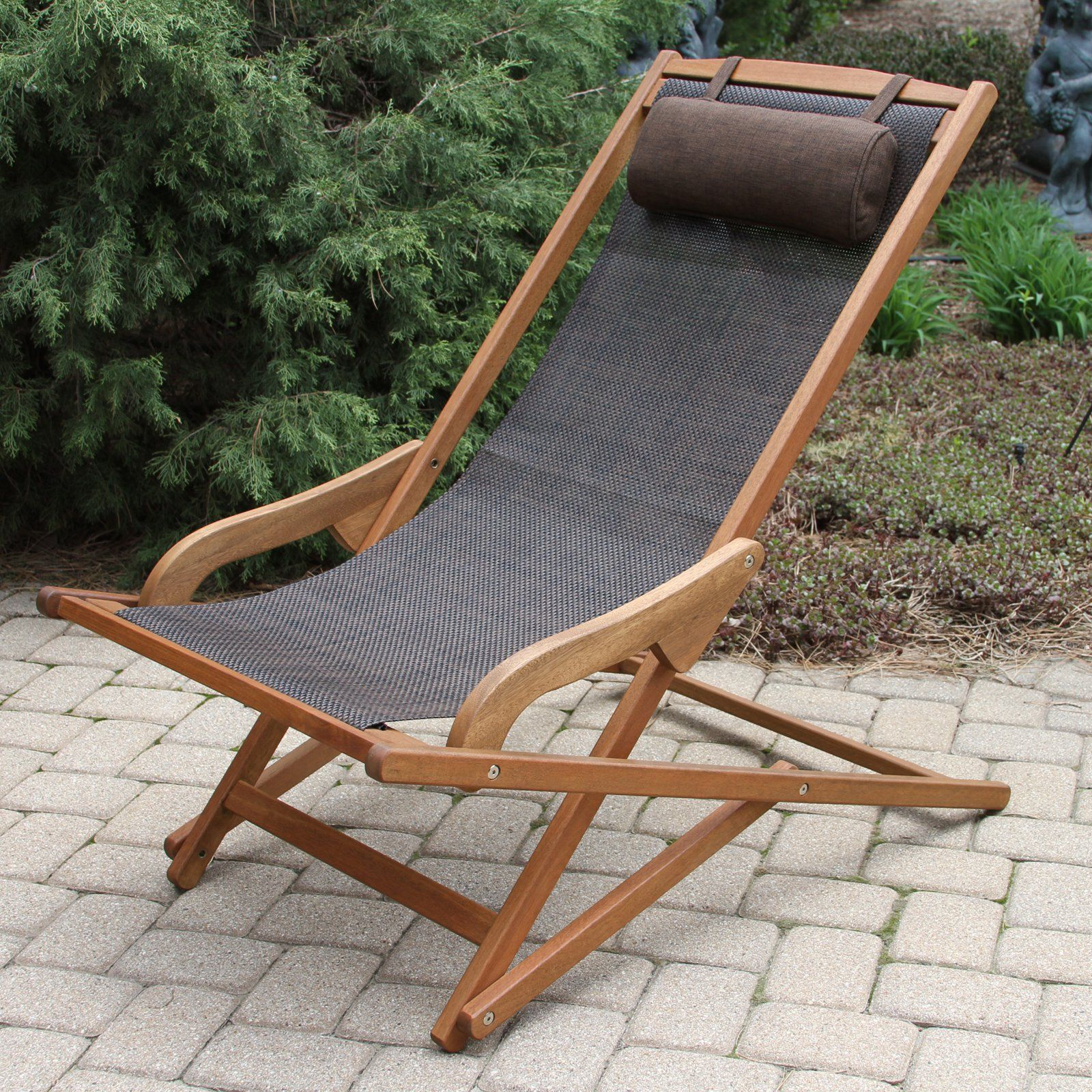 Hammock Chair Rona Vineyard Sling Swing Outdoor Chaise Lounger With Pillow In
