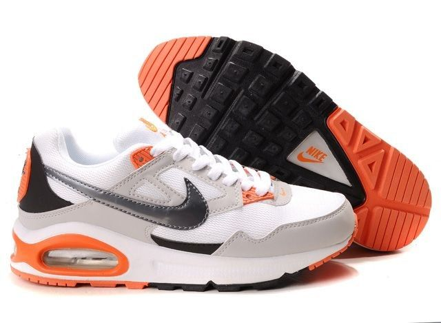Nike Air Max Skyline Mens White Grey Black Orange Running