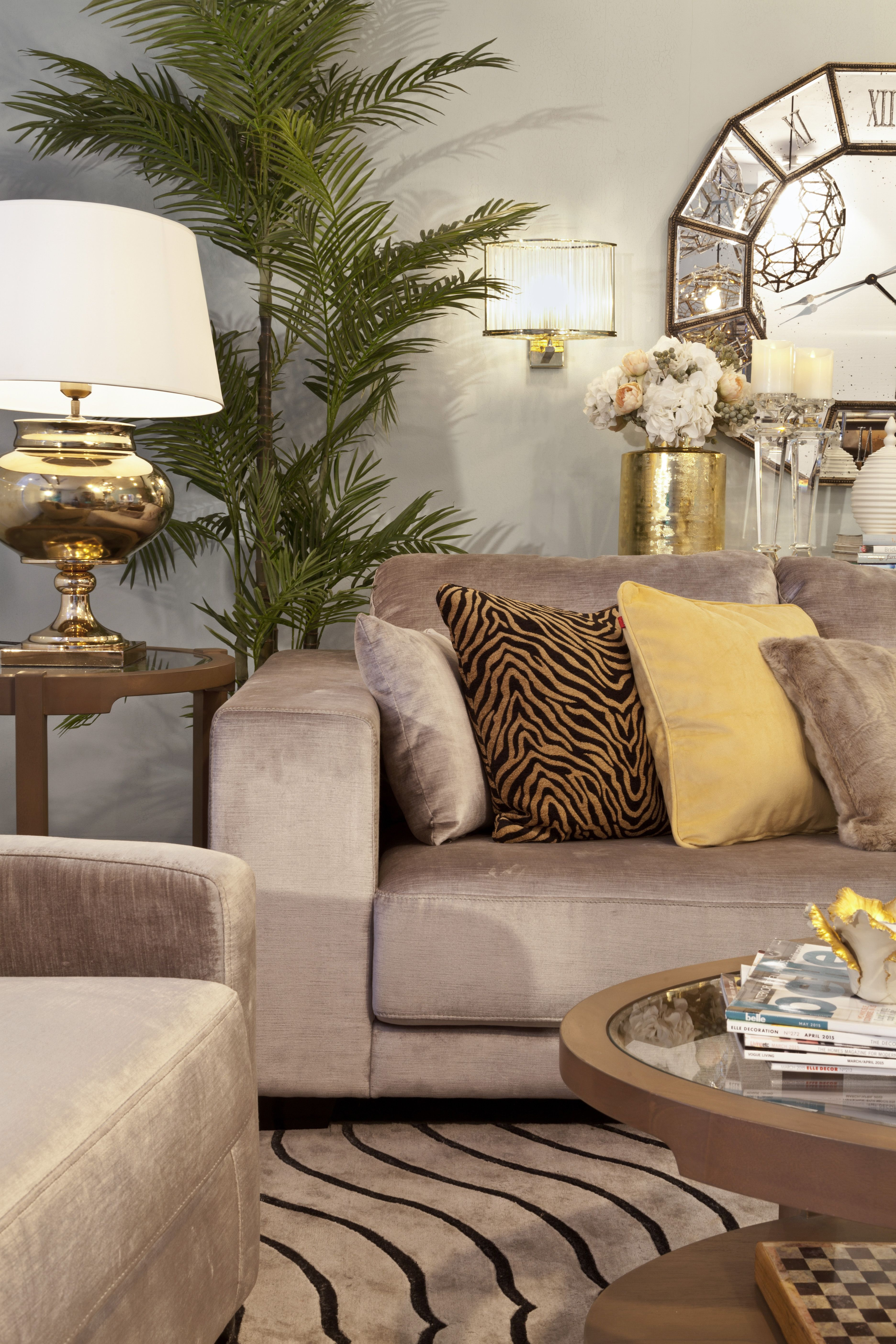 Living Opulent Add Some Animal Printed Cushions To The