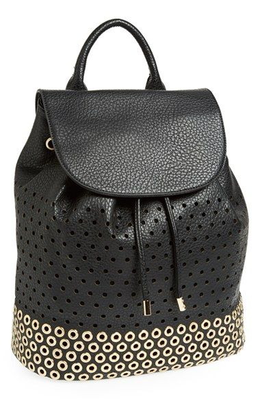 Expressions Nyc Perforated Faux Leather Backpack Available At Nordstrom