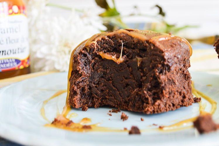 Petit gâteau extra fondant chocolat et caramel au beurre ...