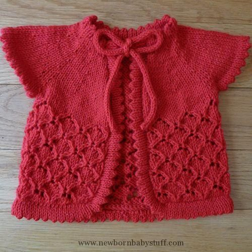 Baby Knitting Patterns Baby Cherry Blossom Sweater - free knitting ...