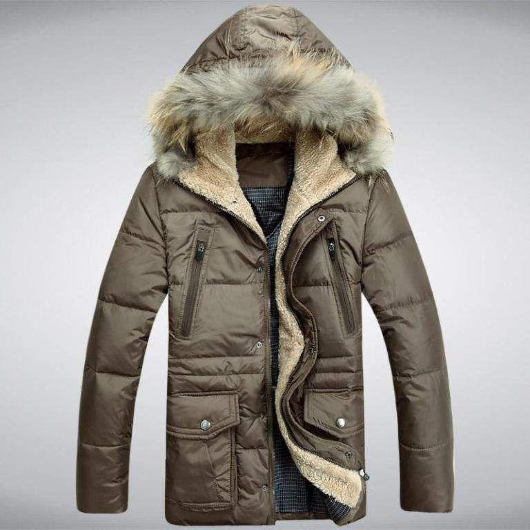 621389ba3ea6c BRĄZ KURTKA MĘSKA KOŻUSZEK FUTRO KAPTUR RO XL 24h   clothes etc ...