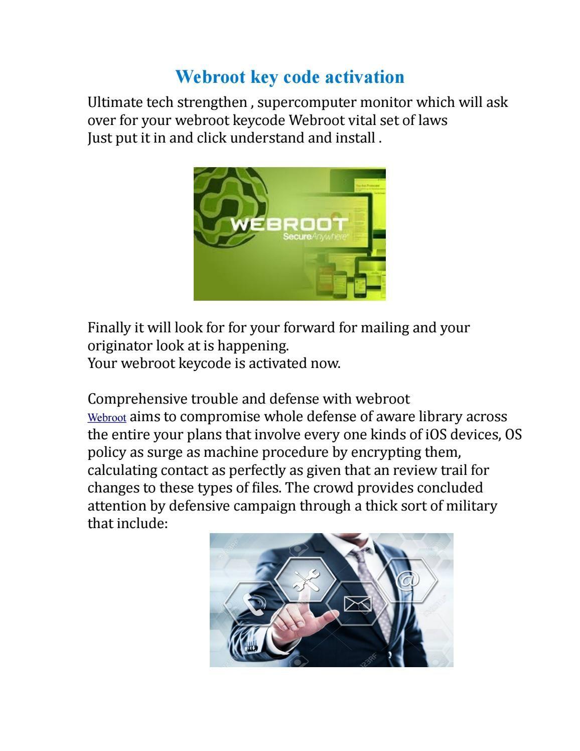Webroot keycode activation | Webroot SecureAnywhere Antivirus 2019