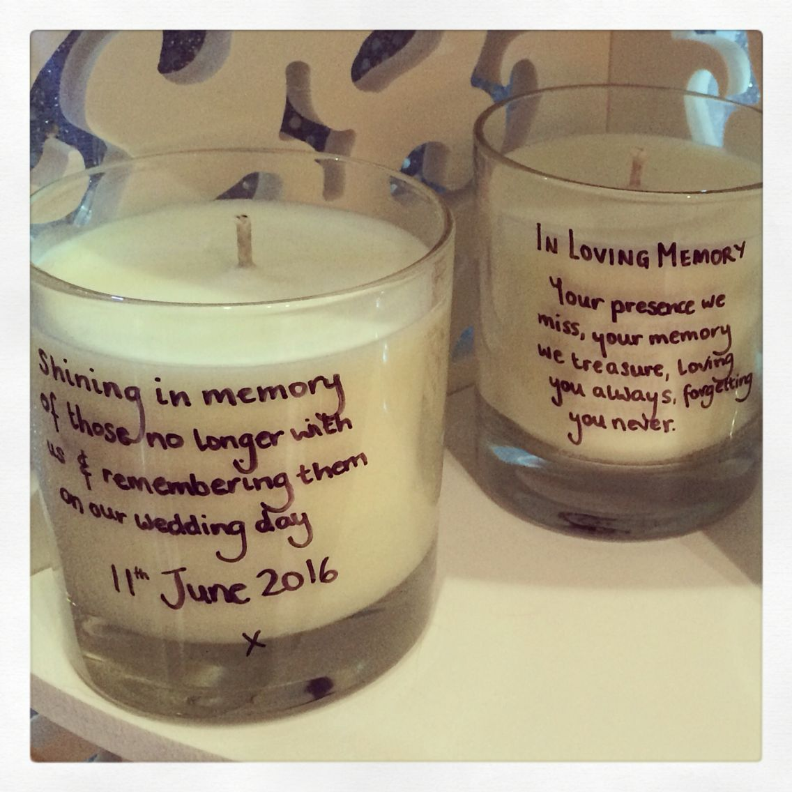 Memory candles Scented Haven Scent soy wax jar candles with personalised message