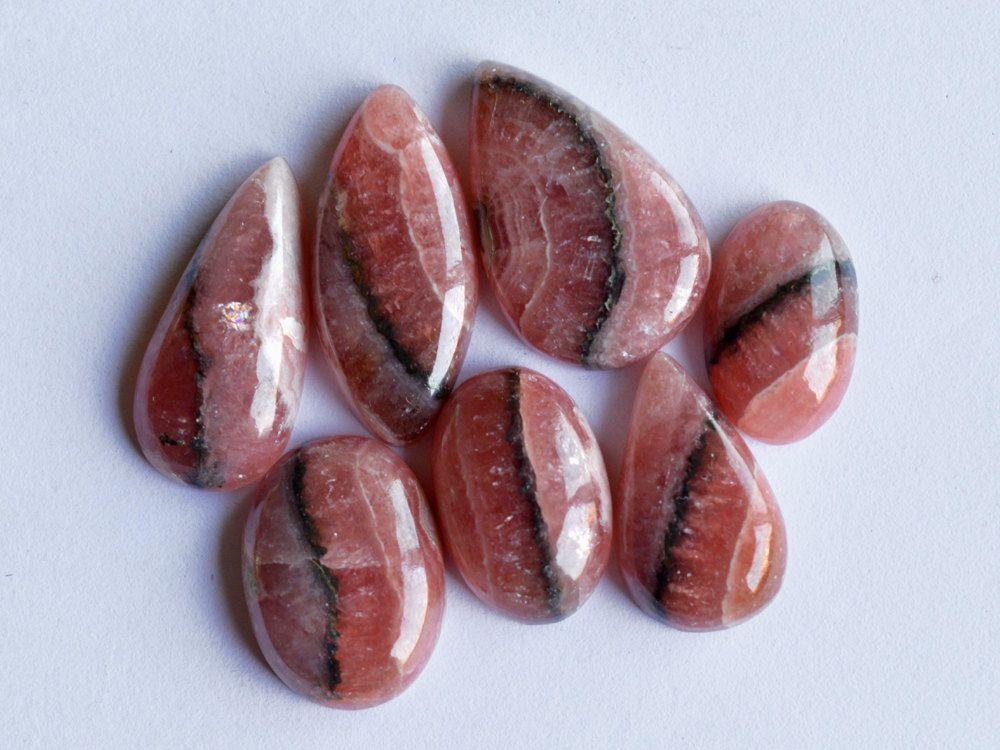 7 Pcs Pink Rhodochrosite Stone,Rhodochrosite Cabochon Gemstone,Handmade Gemstone,Rhodochrosite Finding,Loose Gemstone#10117 by dhorgems on Etsy