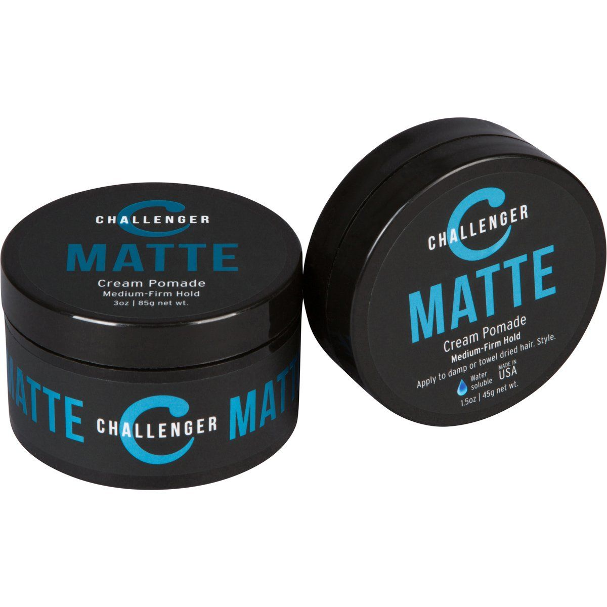 Combo Pack 1 5oz And 3oz Matte Cream Pomade Medium Firm Hold Best Styling Cream From Challenger Water Based Clea In 2020 Styling Cream Hair Wax Hair Care Shop