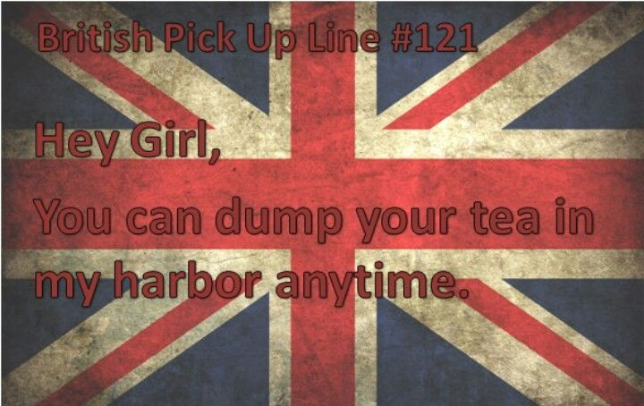 British flirting lines