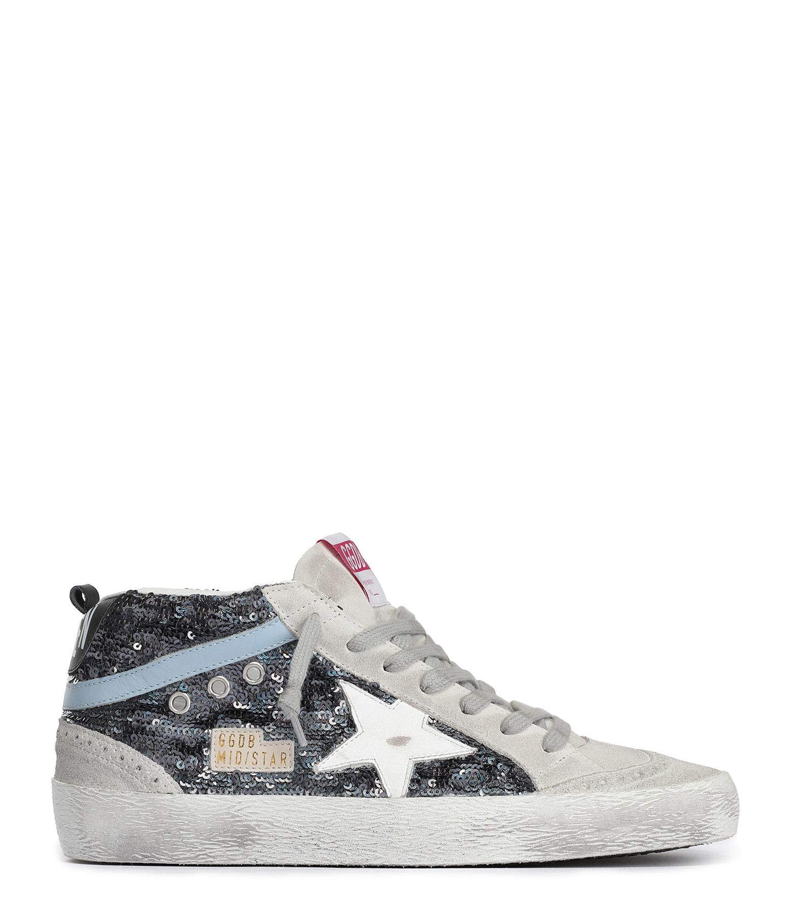 Baskets Mid Star Paillettes Cuir Multicolore en 2020 | Cuir