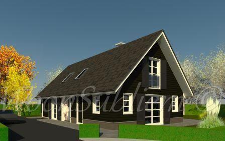 Woonsubliem houten schuurwoning gorssel boshuis nieuwbouw pinterest tiny houses house and - Bungalow ontwerp hout ...