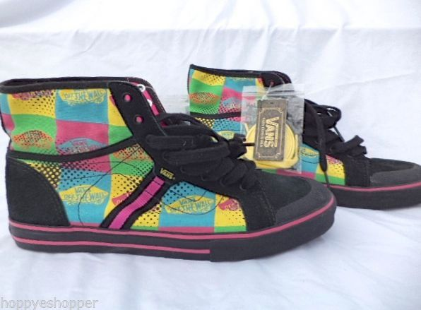a1ad90560f Vans Wellesley High Top Sneakers Womens 9.5 Multi Color Of the Wall NWT new   VANS  FashionSneakers