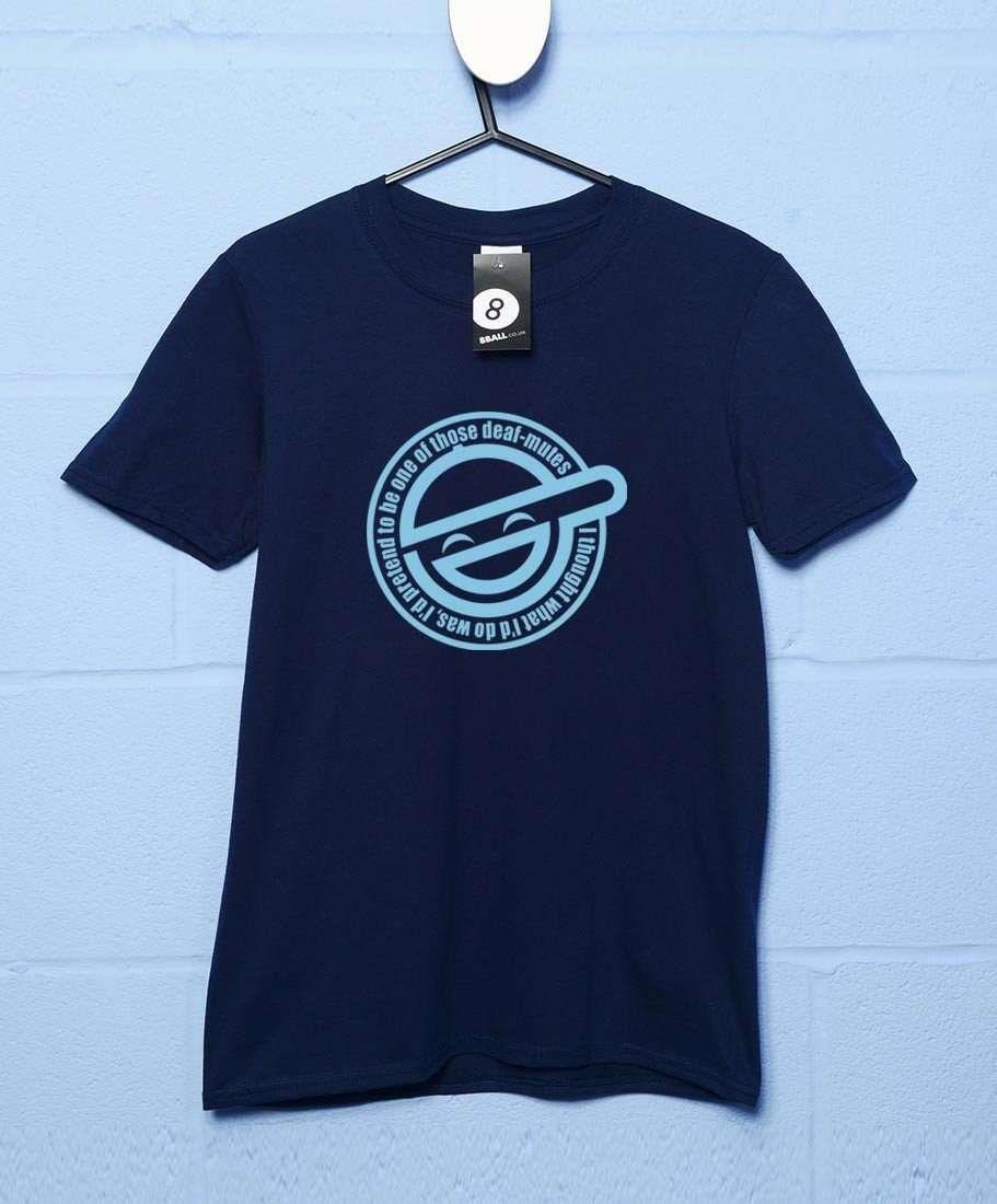 Laughing Man T Shirt - Navy / 2XL
