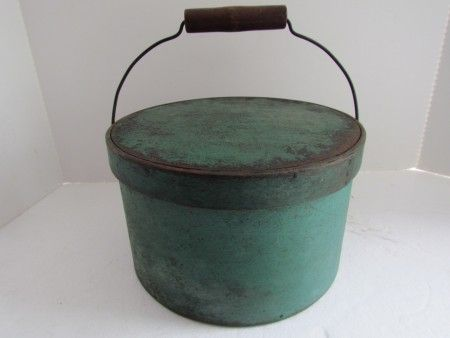 emerald green bail handle pantry box | Art Antiques Michigan