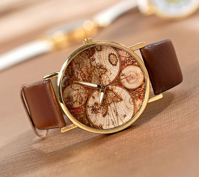 dc92f3d04 World Map Watch, Mens wrist watches Women Watches, Watch Gift $ 9.99 ...