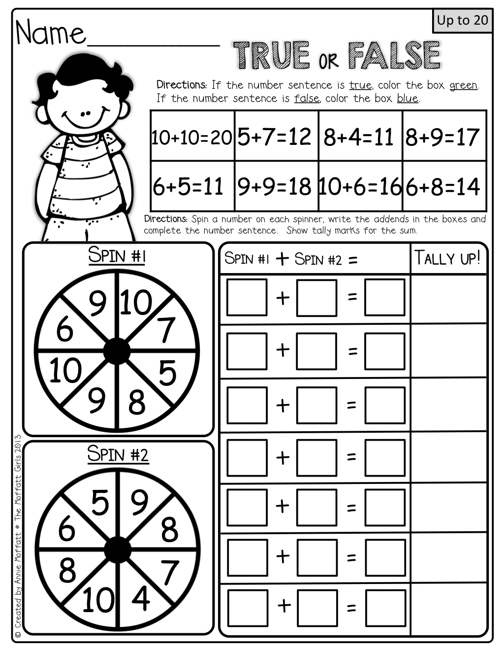 Interactive math! Use a paperclip and pencil to make a