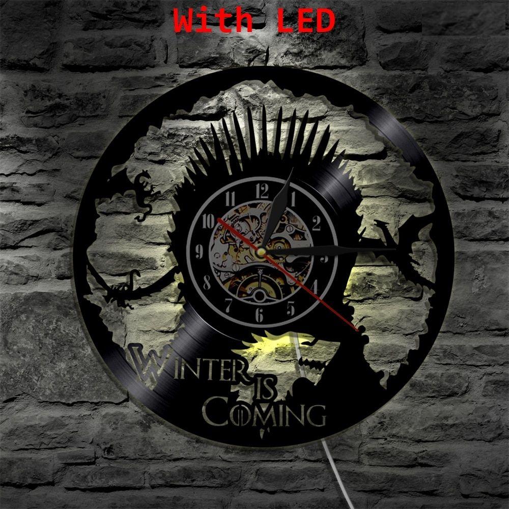 Vinyl Clock Game of Thrones Led Wall Light Atmosphere LP