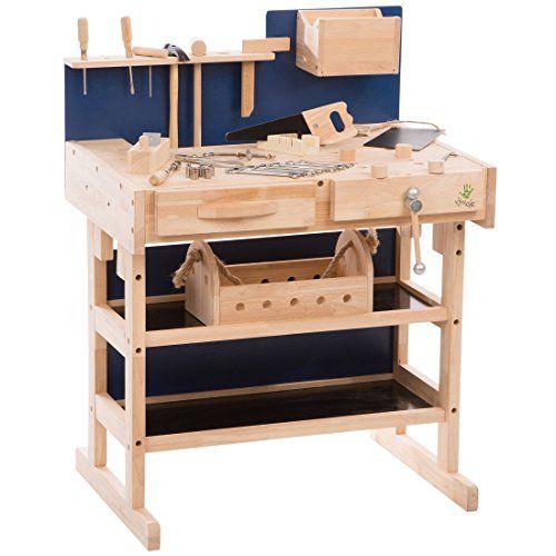 Ultrakidz Kinder-Werkbank aus Massivholz mit Werkzeug-Set... https ...