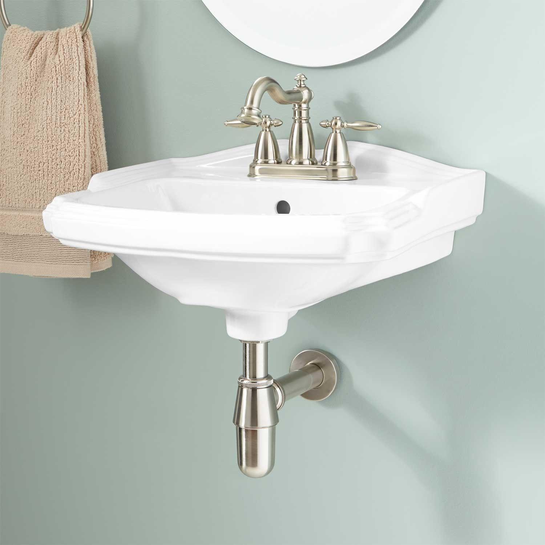 Halden Porcelain WallMount Bathroom Sink  small ensuite