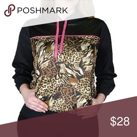 *** JUST IN ***** Multi Animal Print Hoodie Various animal print design on a hoodie Tops