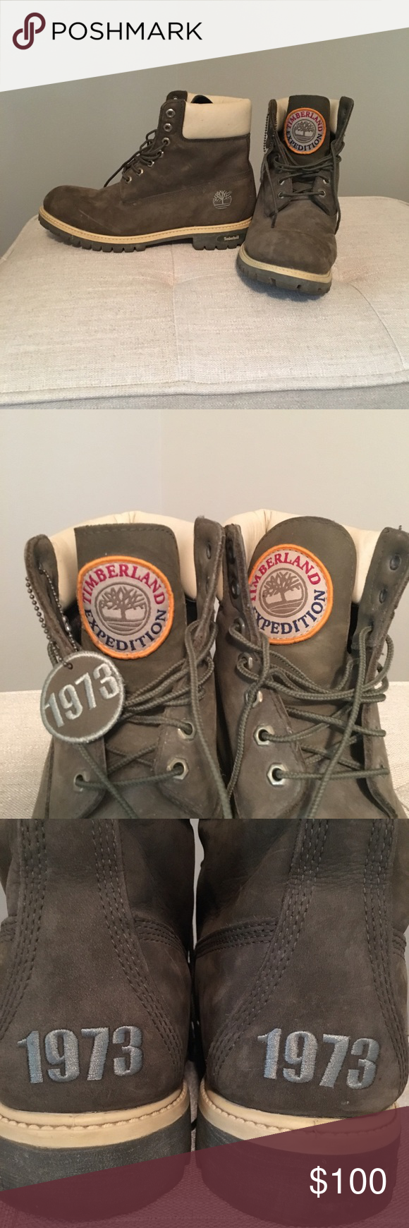 RARE Timberland Expedition Boots Olive green Timberland