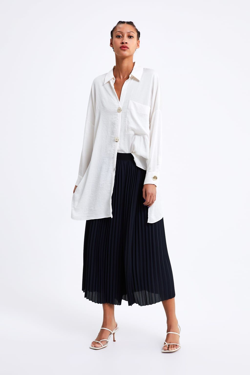 3209e83d Pleated wide leg pants in 2019 | Johnny edlind | Wide leg pants ...