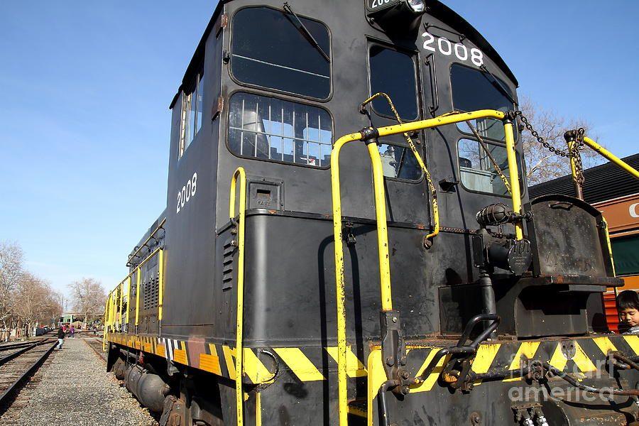 Vintage Railroad Trains . 7d11592 Photograph