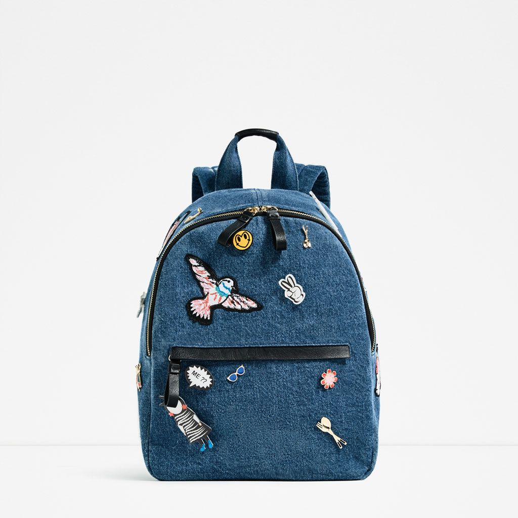 07a8011d22 DENIM PINS BACKPACK
