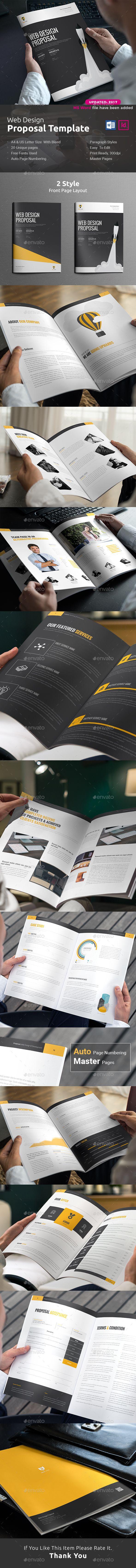 Web Design Proposal Word | Pinterest | Proposals, Proposal templates ...