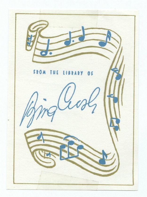 Bing Crosby   35 Bookplates Belonging To FamousPeople, Books