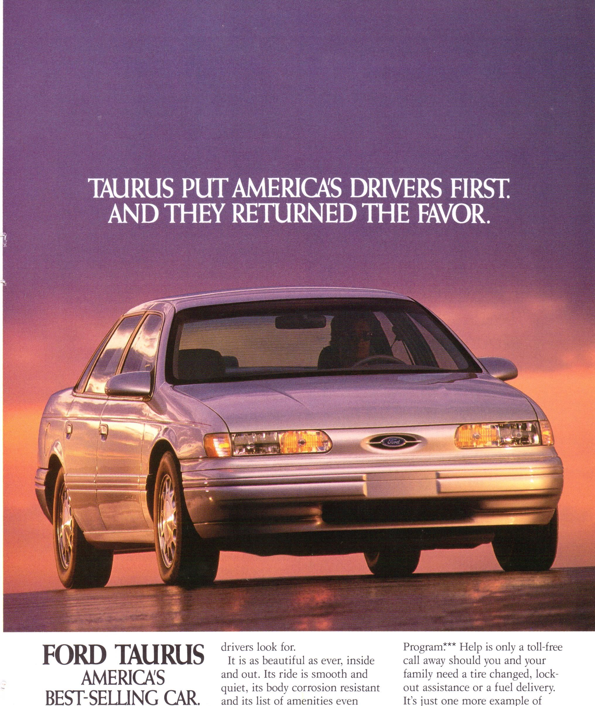 1994 Ford Taurus National Geographic October 1993 Ford Motor